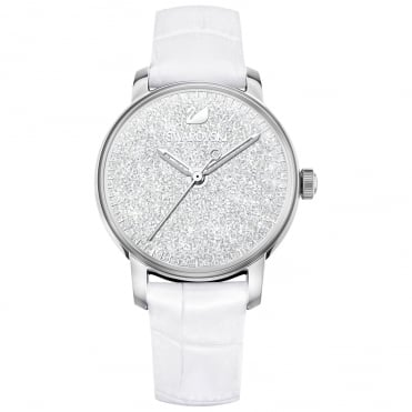 Crystalline Hours White & Silver Watch
