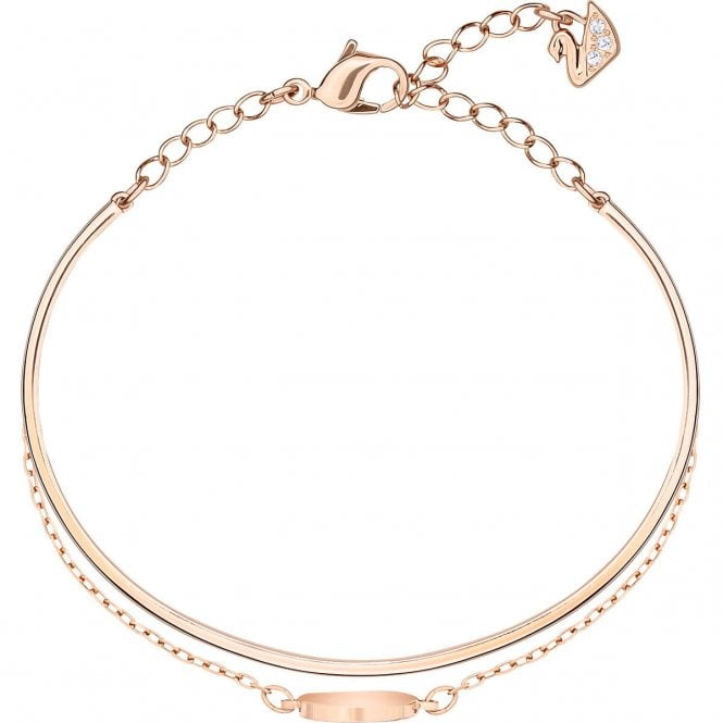 Swarovski Ginger White Crystal Bangle in Rose Gold
