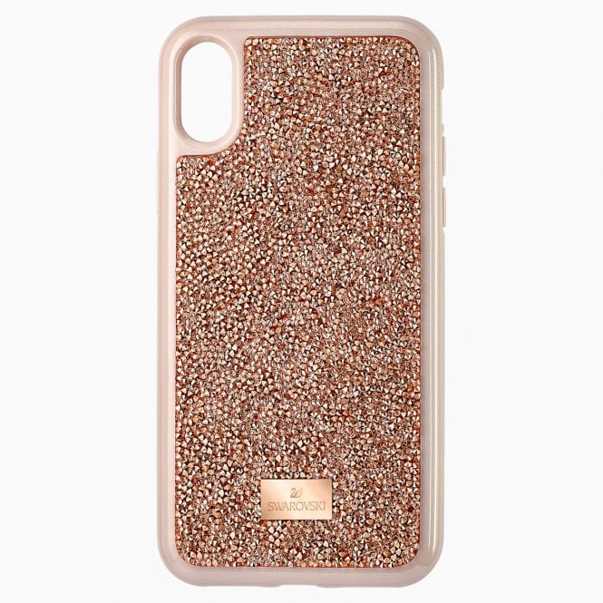 Swarovski Glam Rock Pink Gold Smartphone Case with integrated Bumper for iPhone® X/XS