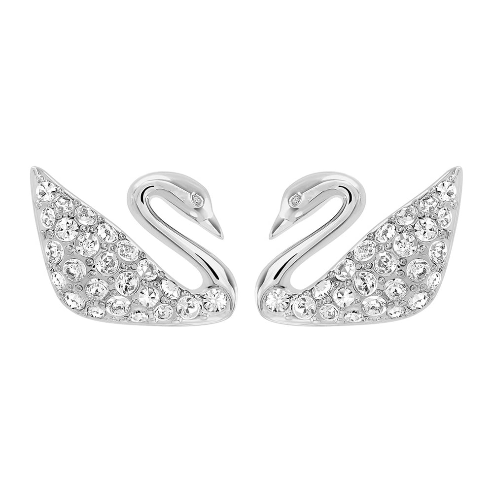 white gold earrings crystal and pearl crown jewelry