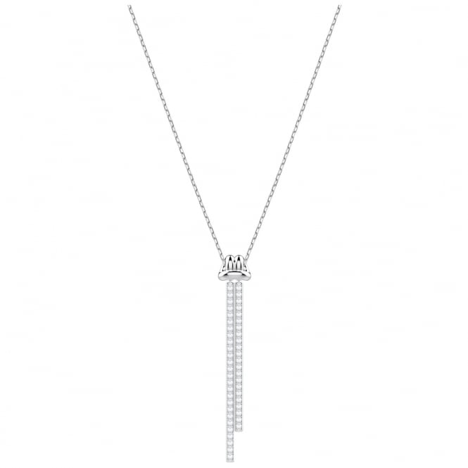 Swarovski Lifelong Rhodium & White Crystal Y Necklace