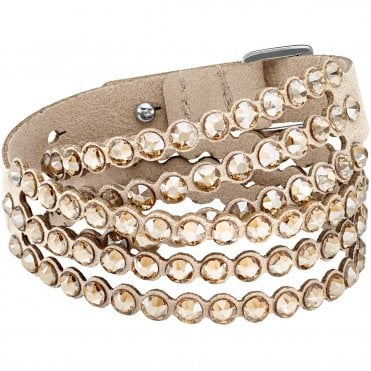 Power Double-Wrap Bracelet in Beige