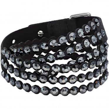 Power Double-Wrap Bracelet in Black