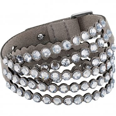 Power Double-Wrap Bracelet in Light Grey