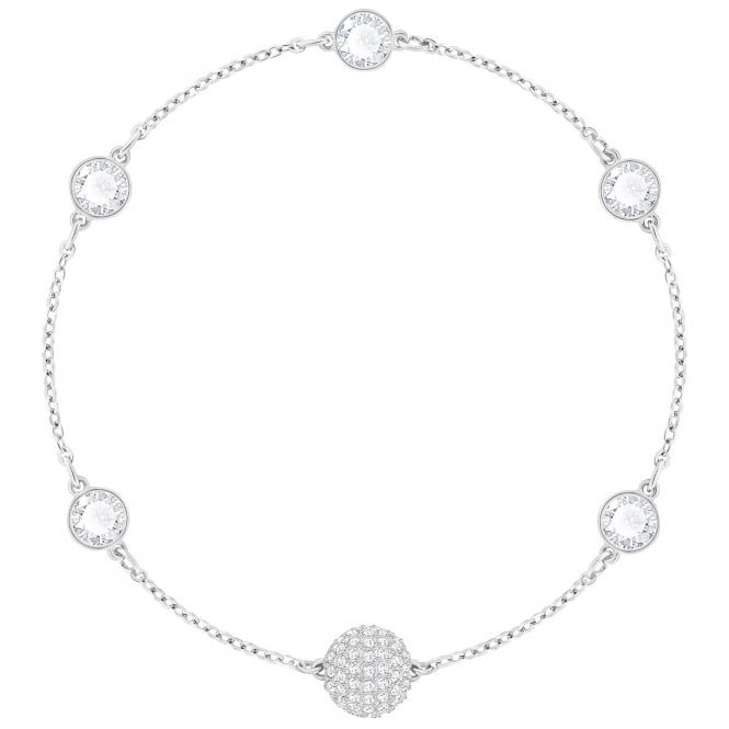 Swarovski Remix Collection Timeless Rhodium & White Crystal Bracelet