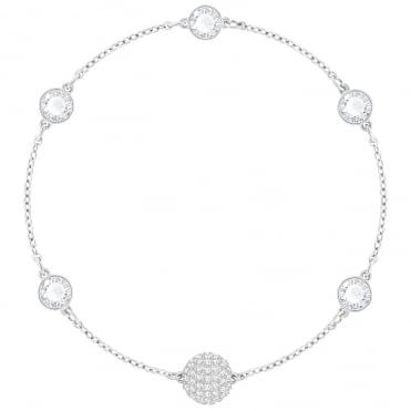 Remix Collection Timeless Rhodium & White Crystal Bracelet