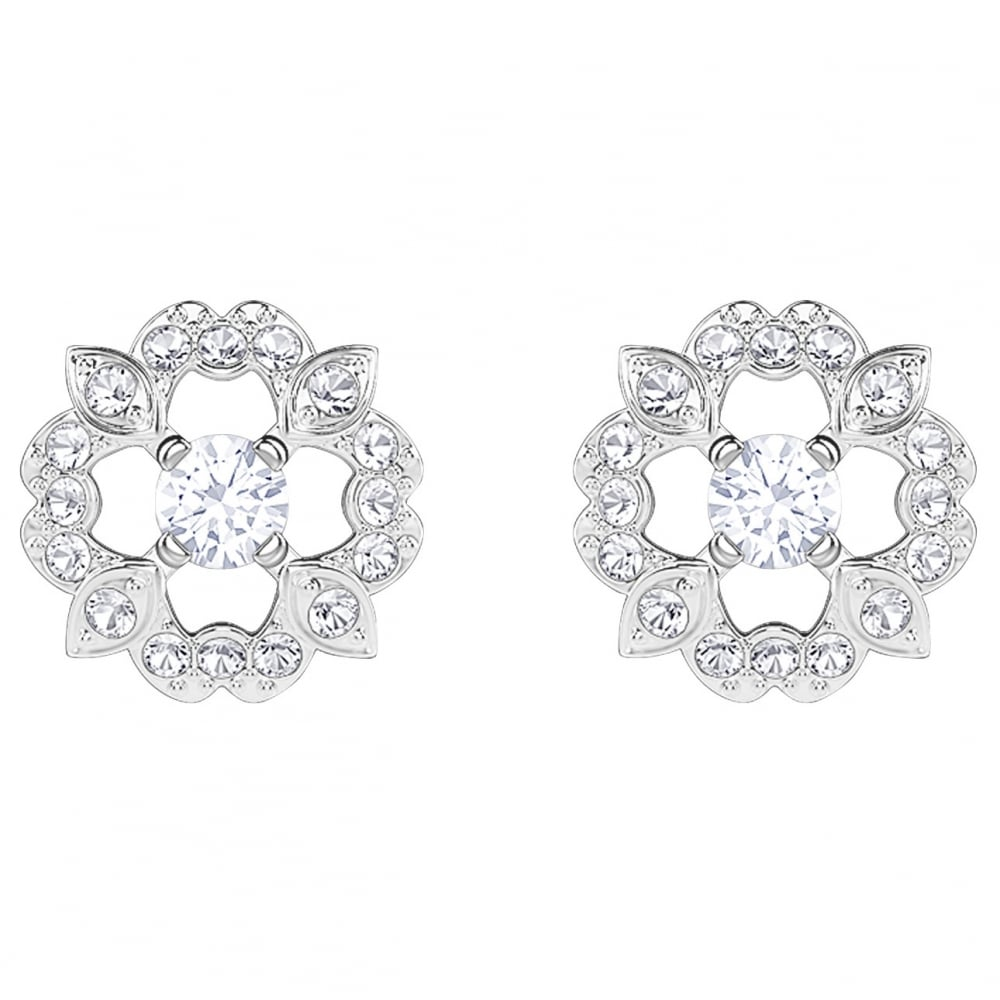 stud product diamond lyst kwiat gold jewelry flower gallery normal sunburst white earrings