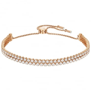 Subtle Rose Gold White Crystal Bracelet