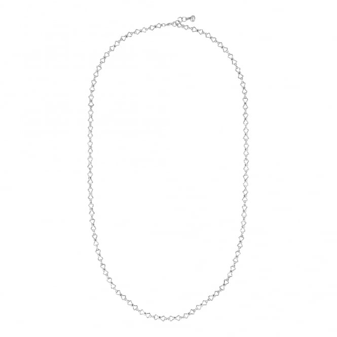 Ted Baker Akira Peek A Bow Silver Chain Necklace