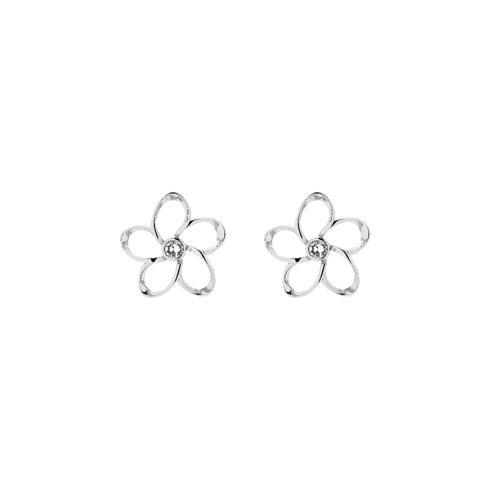 eac49cca7aec TED BAKER Basilio Silver Crystal Mini Blossom Stud Earrings