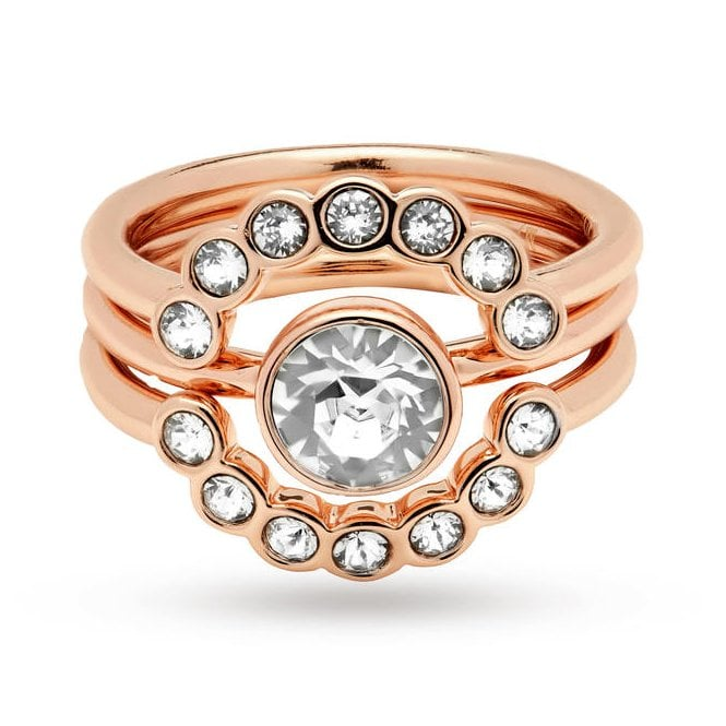 Ted Baker Cadyna Rose Gold Concentric Ring (Small - Medium)