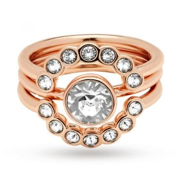 Cadyna Rose Gold Concentric Ring (Small - Medium)