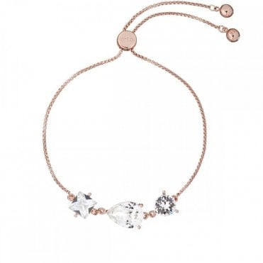 Callab Rose Gold and Crystal Candy Bracelet