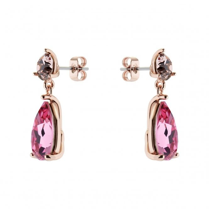 Ted Baker Carbela Rose Gold and Pink Multi Crystal Candy Teardrop Earrings