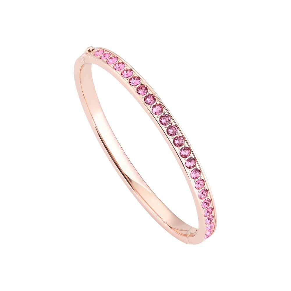 pretty cool uk store new photos TED BAKER Clemara Hinged Rose Gold and Pink Crystal Bangle