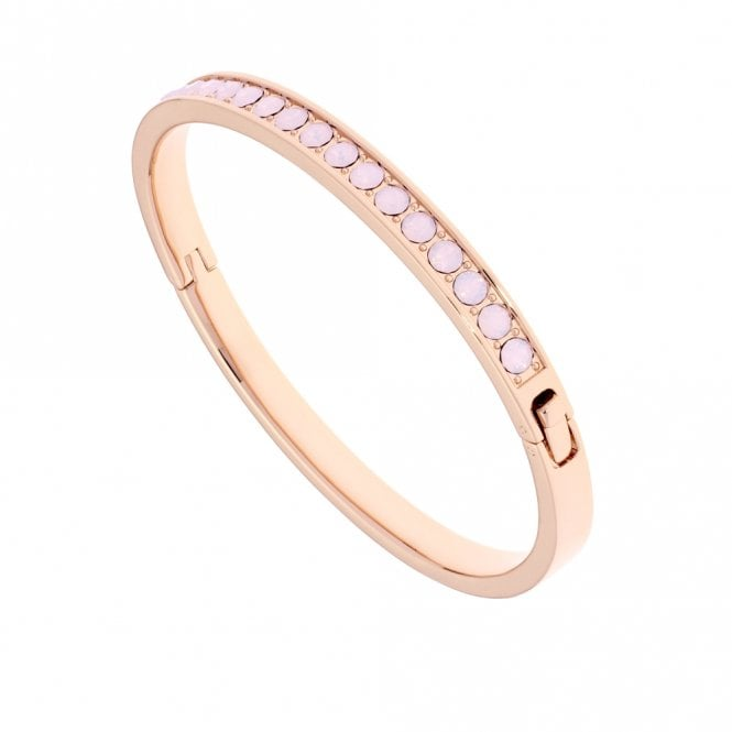 Ted Baker Clemara Hinged Rose Gold and Pink Opal Bangle