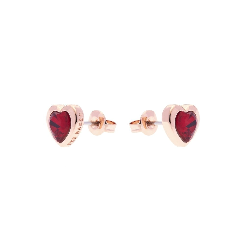 83a7df6ad5 ... Ted Baker Hann Rose Gold and Red Swarovski Crystal Heart Stud Earrings.  Tap image to zoom. Hann Rose Gold and Red Swarovski Crystal Heart Stud  Earrings