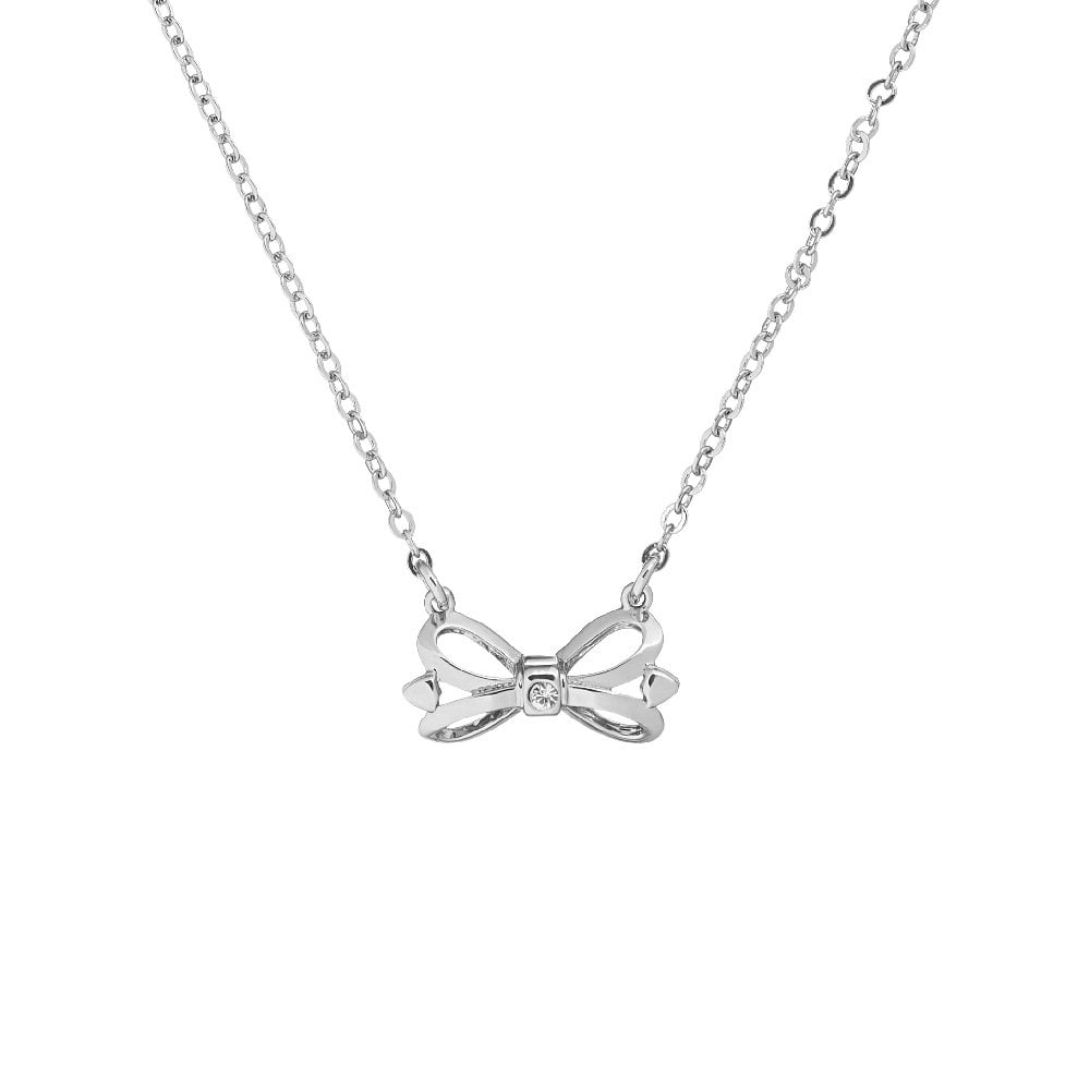 TED BAKER TENGAR TUX BOW PENDANT SILVER TONE NECKLACE GIFT BOX RRP £29