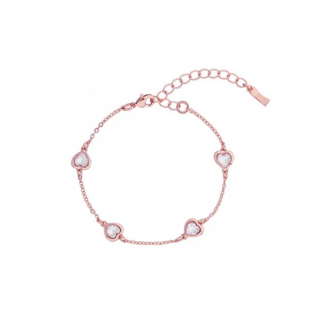 Ted Baker Heniee Rose Gold Crystal Heart Bracelet