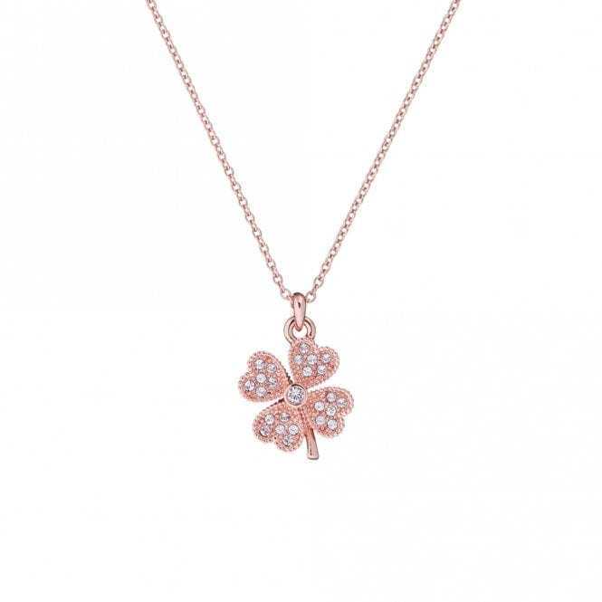 Ted Baker Heyam Rose Gold Hidden Heart Clover Pendant Necklace