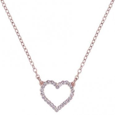 Lendra Rose Gold Entwined Love Heart Necklace