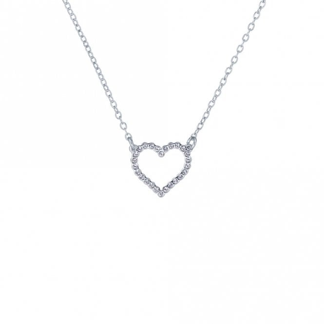 Ted Baker Lendra Silver Crystal Heart Pendant Necklace