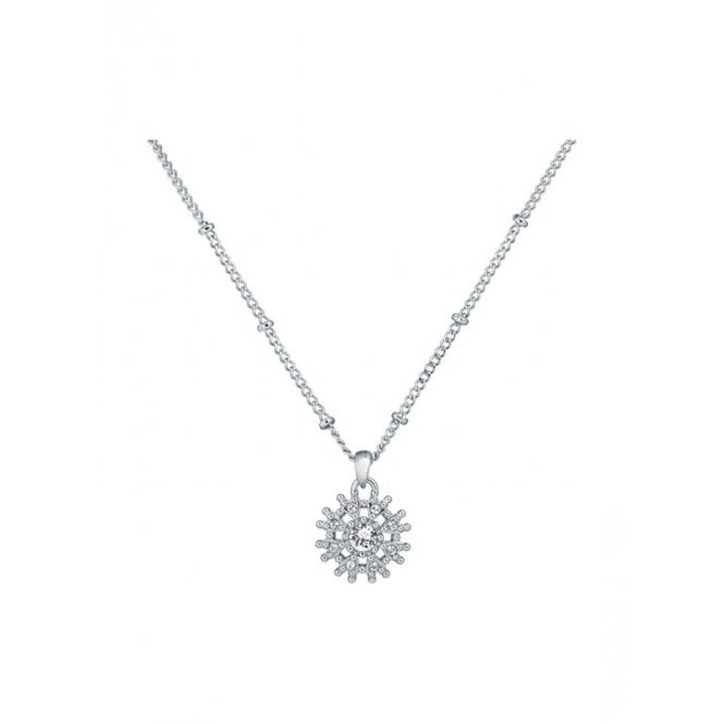 Ted Baker Lusha Silver CZ Snowflake / Star Pendant Necklace