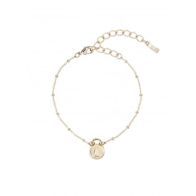 Ted Baker Padena Yellow Gold Mini Padlock Bracelet