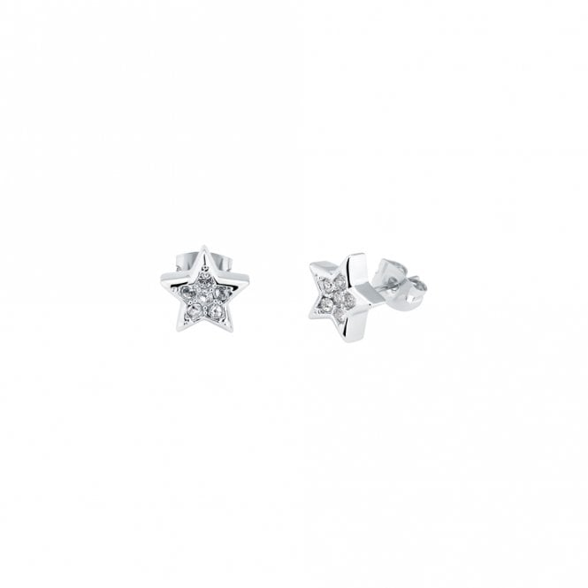Ted Baker Safire Silver Pave CZ Shooting Star Stud Earrings