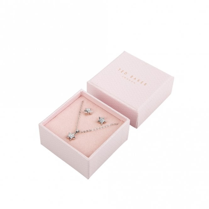 Ted Baker Safra Silver Pave Shooting Star Gift Set