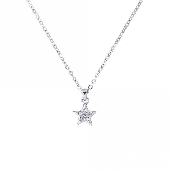 Ted Baker Saigi Silver and CZ Shooting Star Pendant Necklace