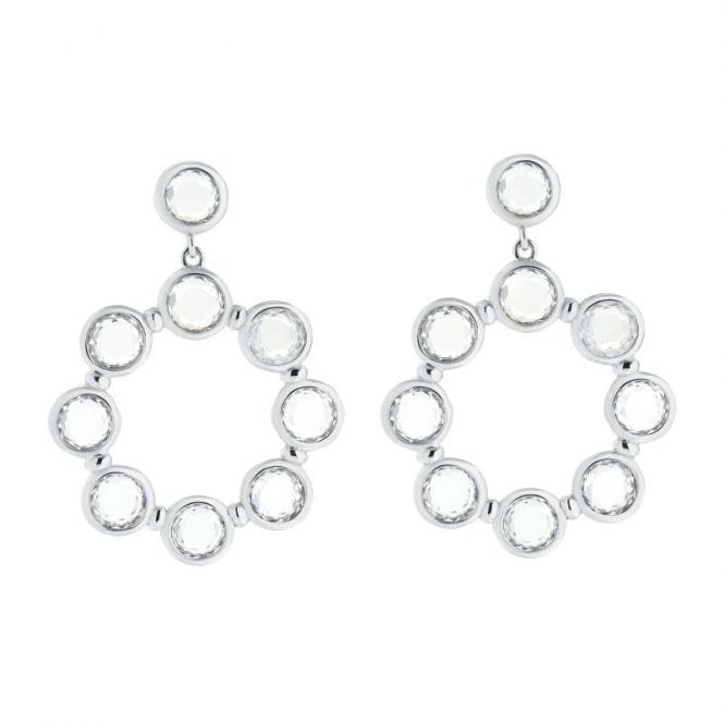 Ted Baker Sarla Starlight Crystal Silver Chandelier Earrings