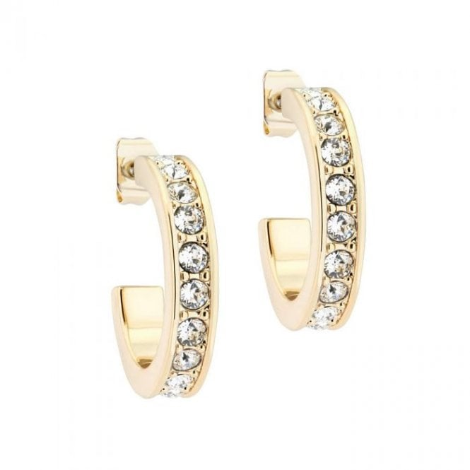 Ted Baker Seanna Gold and Crystal Hoop Earrings