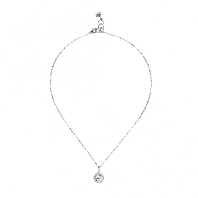 Ted Baker Sela Crystal Silver Pendant Necklace