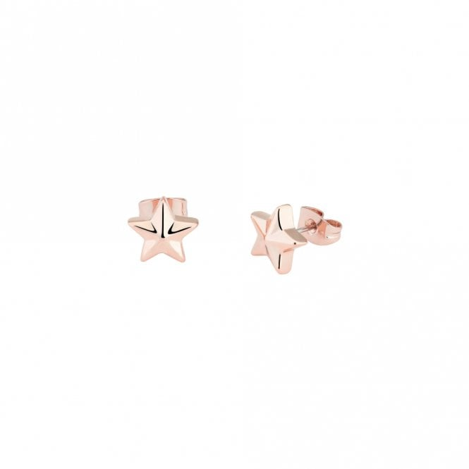 Ted Baker Shaylaa Rose Gold Five Pointed Star Stud Earrings
