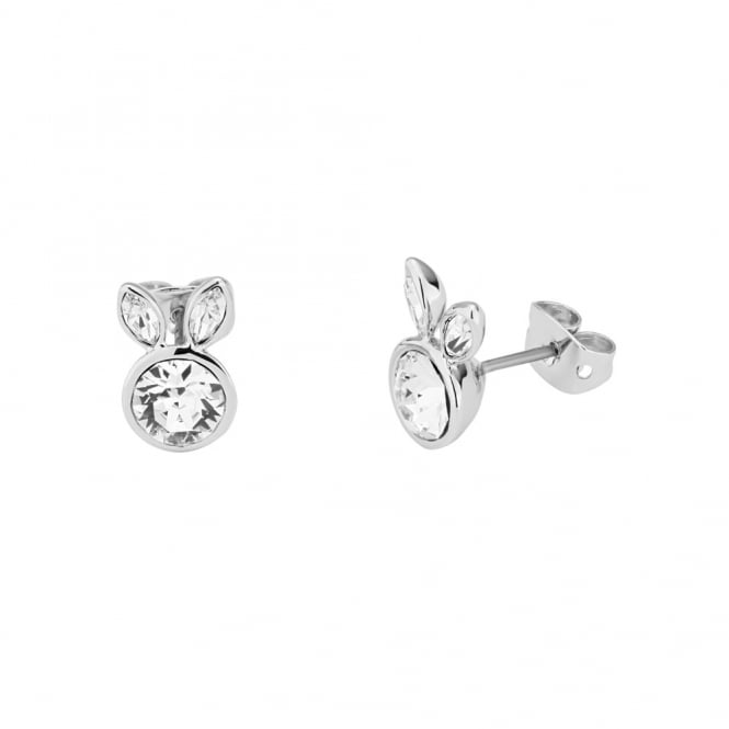 Ted Baker Silver Crystal Alarta Adorables Rabbit Stud Earrings