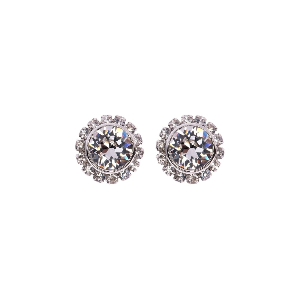 Daisy Stud Earrings with Crystals from Swarovski® in Gift Pouch OHfwEhKx
