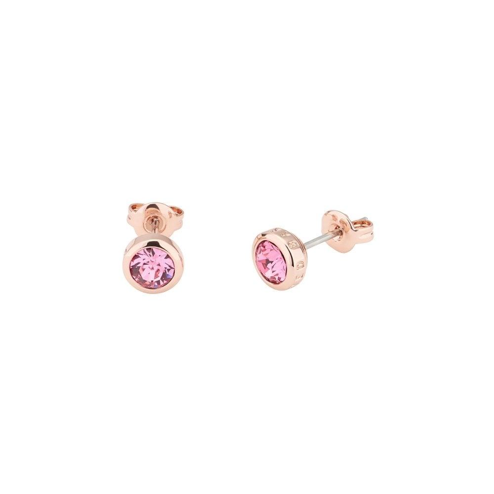 691989b56 TED BAKER Sinaa Crystal Rose Gold Stud Earrings