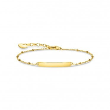 18 Carat Yellow Gold Plated Engravable ID Bracelet