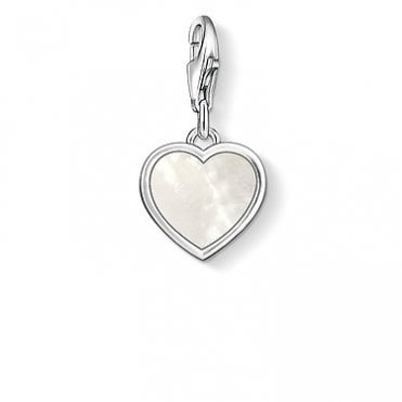 Charm Club Mother of Pearl Heart Silver Charm