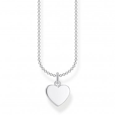 Glam and Soul Silver Lucky in Love Heart Necklace Length 45cm
