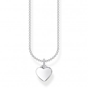 Glam and Soul Silver Lucky in Love Small Heart Necklace Length 45cm