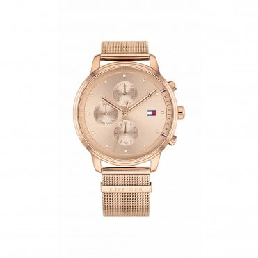 Blake Rose Gold Mesh Strap Watch