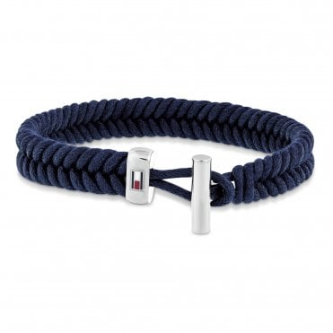 Casual Black Coated Cord Bracelet