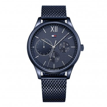Damon All Blue Mesh Strap Watch