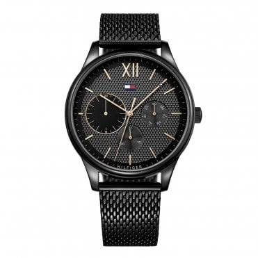 Damon Black Mesh Strap Watch