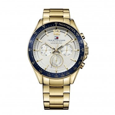 Luke Blue and Yellow Gold Bracelet Watch