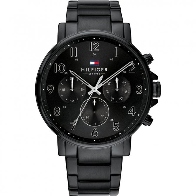 Tommy Hilfiger Men's Steel Classic Daniel Watch with Black Dial