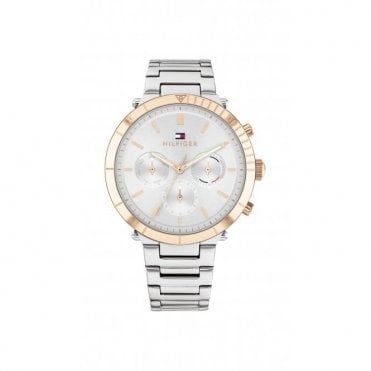 Rose Gold Plated Steel Two Tone Ladies Emery Watch