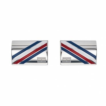 Stainless Steel TH Flag Logo Cufflinks
